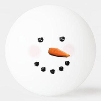 funny snowman ping pong ball