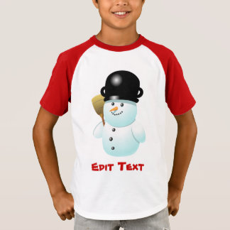 Funny Snowman With Carrot Nose T-Shirt