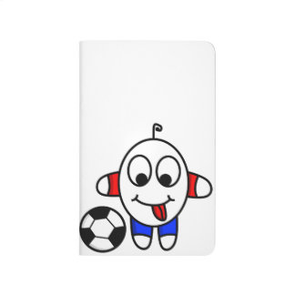 funny soccer dude journal