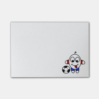 funny soccer dude post-it notes