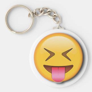 Funny Social Emoji Basic Round Button Keychain