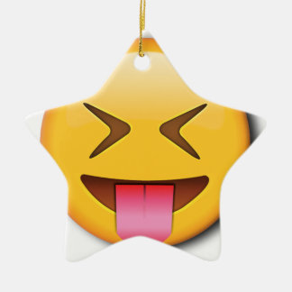 Funny Social Emoji Ceramic Ornament