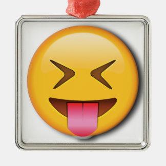 Funny Social Emoji Metal Ornament