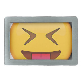 Funny Social Emoji Rectangular Belt Buckle