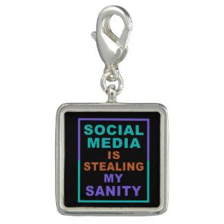 """Funny """"Social Media"""" charm / bracelet"""