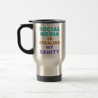 "Funny ""Social Media"" custom monogram mugs"