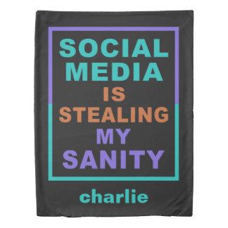 """Funny """"Social Media"""" custom name duvet covers Duvet Cover"""