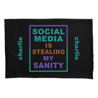 "Funny ""Social Media"" custom name pillow cases Pillowcase"