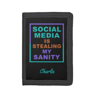 "Funny ""Social Media"" custom name wallets"