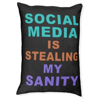 """Funny """"Social Media"""" dog beds Large Dog Bed"""