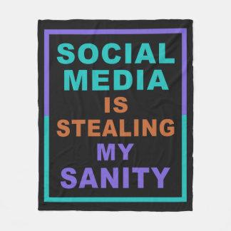 """Funny """"Social Media"""" fleece blankets"""