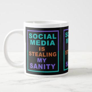 "Funny ""Social Media"" jumbo mug"