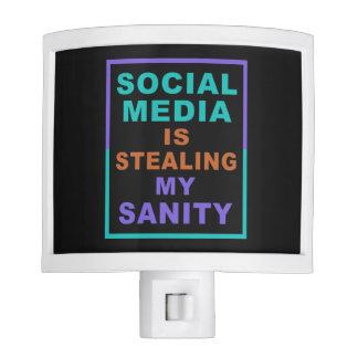 """Funny """"Social Media"""" night light"""