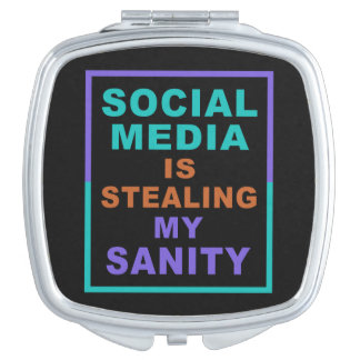 """Funny """"Social Media"""" pocket mirror"""