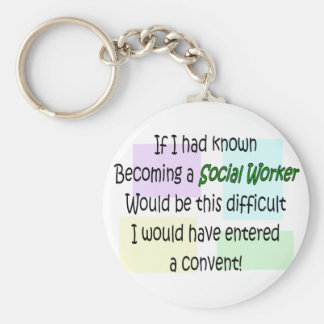 Funny Social Worker Gifts Keychains