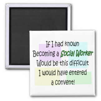Funny Social Worker Gifts Square Magnet