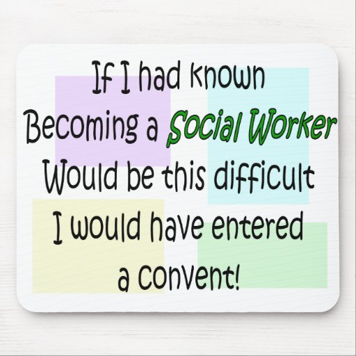 Funny Social Worker Gifts Mousepads