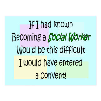 Funny Social Worker Gifts Postcard