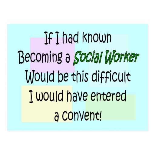 Funny Social Worker Gifts Postcards