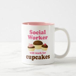 Funny Social Worker Two-Tone Mug