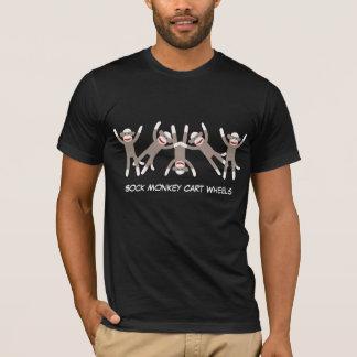 Funny Sock Monkey Cart Wheels Tshirt