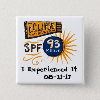 Funny Solar Eclipse Sunscreen 2 Inch Square Button