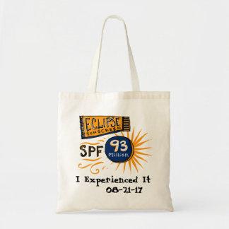 Funny Solar Eclipse Sunscreen Tote Bag