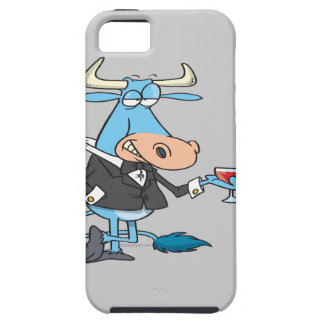 funny sophisticated bull cartoon case for the iPhone 5