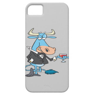 funny sophisticated bull cartoon iPhone 5 cover