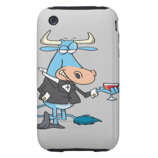 funny sophisticated bull cartoon tough iPhone 3 covers