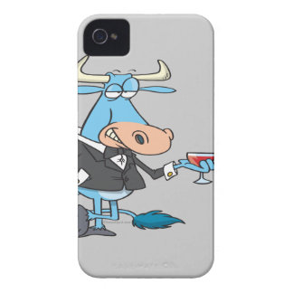 funny sophisticated bull cartoon iPhone 4 cover