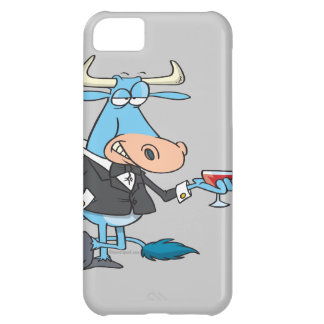 funny sophisticated bull cartoon iPhone 5C case