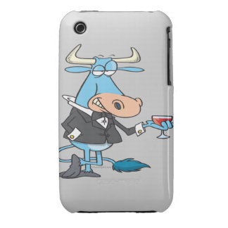 funny sophisticated bull cartoon iPhone 3 cover
