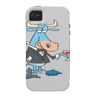 funny sophisticated bull cartoon iPhone 4/4S covers