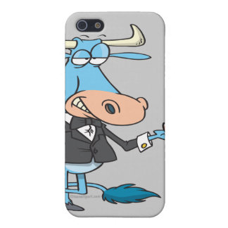 funny sophisticated bull cartoon iPhone 5/5S cover
