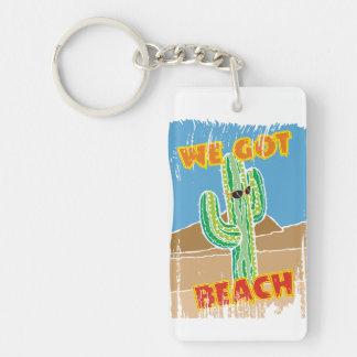 Funny southwestern desert cactus we got beach keychain