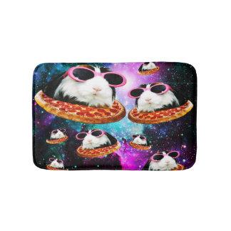 Funny space guinea pig bath mat