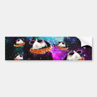 Funny space guinea pig bumper sticker