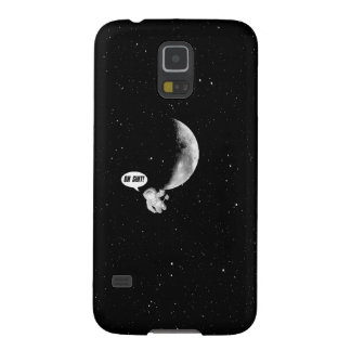 Funny Spaceman and The Moon Galaxy S5 Case