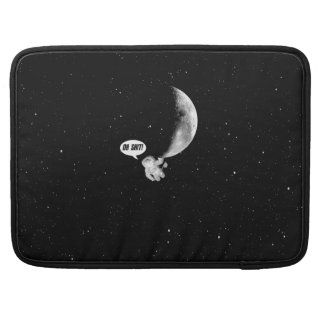 Funny Spaceman and The Moon MacBook Pro Sleeve