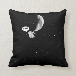 Funny Spaceman and The Moon Throw Pillow