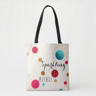 Funny Sparkle Polka Dots Tote Bag