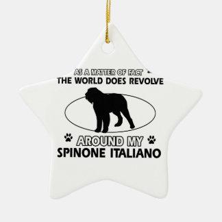 Funny spinone italian designs ceramic ornament