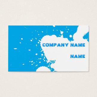 Funny splatter business card