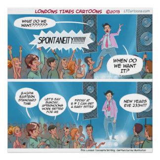 Funny Spontaneity Coach Poster