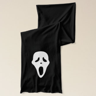 Funny Spooky Ghost Scream Face - Happy Halloween Scarf