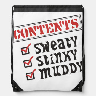 Funny Sports - © Contents: Sweaty, Stinky, Muddy Drawstring Bag