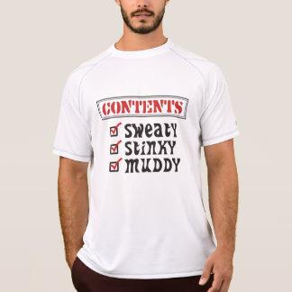Funny Sports - © Contents Sweaty Stinky Muddy T Shirt