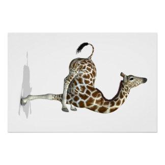 Funny Sporty Giraffe Perfect Poster