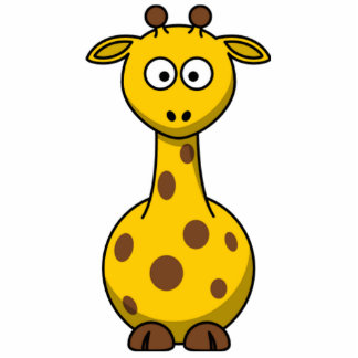 Funny Spotted Cartoon Giraffe Kids Photo Cut Outs